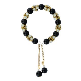 Luxor Black And Gold Plated Lovely Bracelet BG-1804