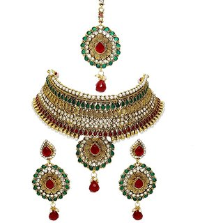 La Trendz Gold Bridal Necklace Set(LT1423)