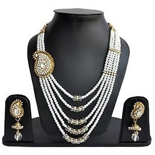 artificial jewellery Rani Haar With Combo Of Alloy Jewel Set