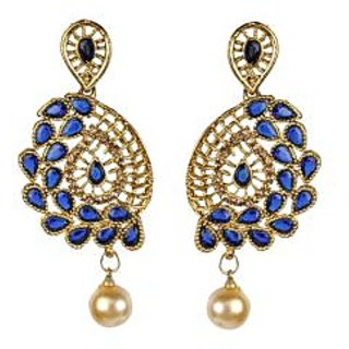 BIYU gold plated CZ blue earring set