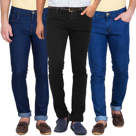 Stylox Men Multicolor Comfort Fit Jeans