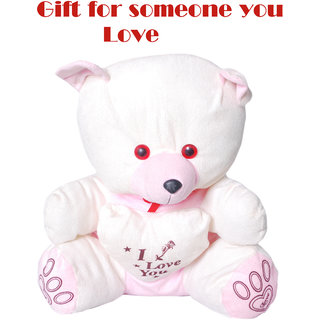 Valentine Cute Huggable Teddy white Pink