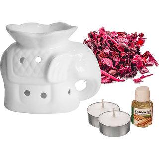 Ceramic Elephant Aroma Burner with Potporri  Oil