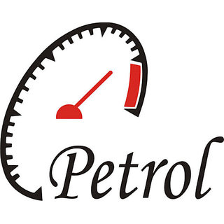 Stylish PETROL Sticker for car FUEL LID. ALL CARS ANY MAKE