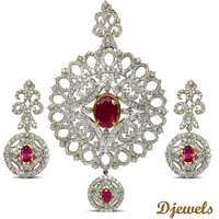 Djewels Dazzling Diamond Bridal Necklace Set