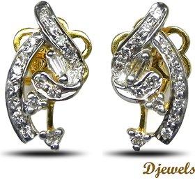 Djewels Diamond Gold Earring