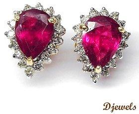 Djewels Ruby Diamond Earring