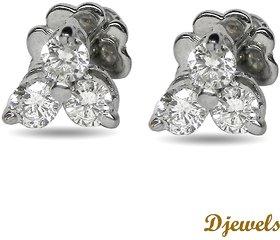 Djewels White Gold Teen Diamond Earring