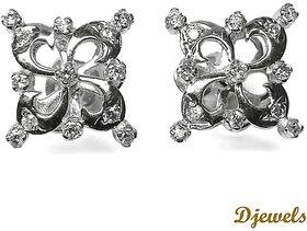 Djewels Stylish White Gold Diamond Earring