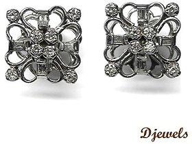 Djewels White Gold Diamond Earring