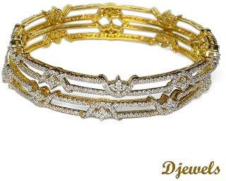 Djewels Designer Diamond Wedding Bangles