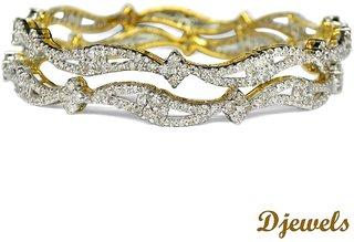 Djewels Stylish Diamond Wedding Bangles