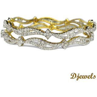 Djewels Stylish Diamond Wedding Bangles