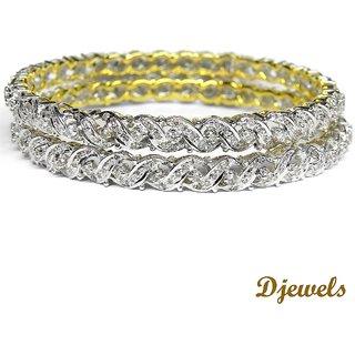 Djewels Dazzling Diamond Wedding Bangles