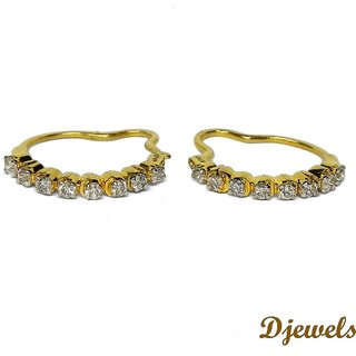 Djewels Gold Diamond Ear Bali Diamond Earring