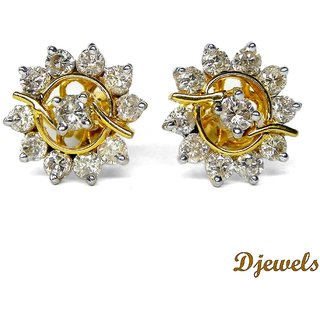 Djewels Voguish stud Diamond Earring