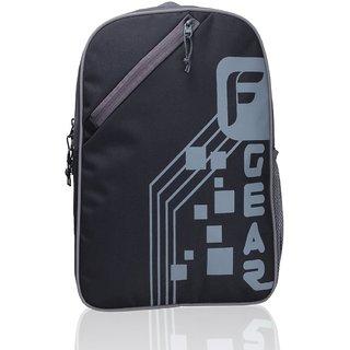 F Gear Insider Polyester 12 Ltrs Black Grey School Bag