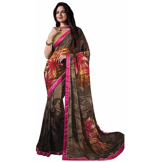 Vibhaa Multicolor Georgette Printed Saree