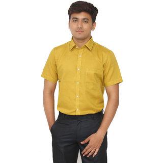 Kriss Solid Mens Formal Linen Slim Fit Shirt