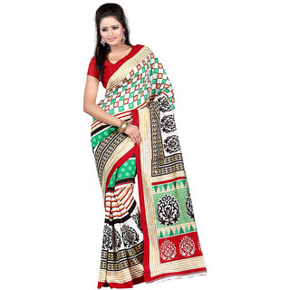 Vibhaa Multicolor Art Silk Printed Saree