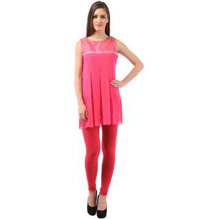 vedika pink georgette brokit with less tunics