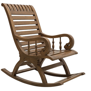 DZYN Furnitures Wooden Rocking Chair TeakWood