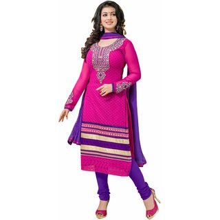 Florence Bollywood Embellished Pink Cotton Designer Suit (SB-1503)