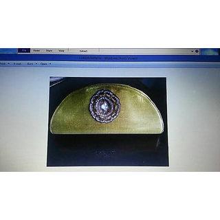 Party Gold Artificial silk Clutch