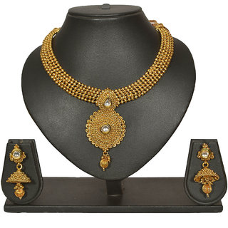 Pourni Necklace with Zumka Earring jewellery necklace Earring Set - PRNK139