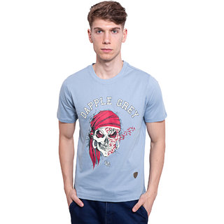 DAPPLE GREY Mens Casual Wear Simple Cotton Tshirt