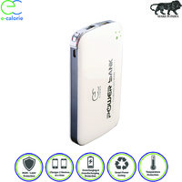 Ecalorie 10000 MAH Slim 10mm Fast Charging Elegant Lithium Polymer White Power Bank With Warranty