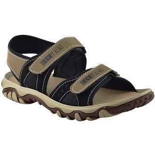 Elvace BlackCream Cluster sandal Men Shoes-4009