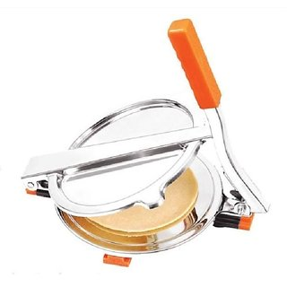 Multipurpose Manual Stainless Steel Puri Press - Puri,Papad,Chapati & Roti Maker - 94968520