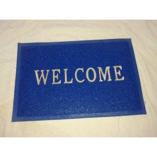 Akash Ganga Blue Welcome Floor Mat (M31)