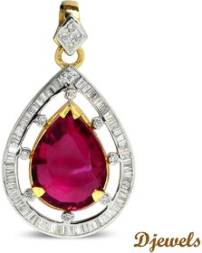Djewels Diamond Gems Gold Pendant