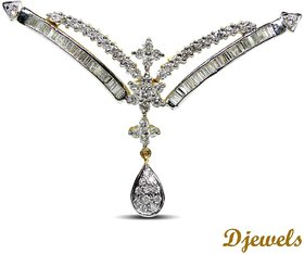 Djewels Wedding Diamond Mangalsutra Jewellery, Diamond Pendant