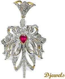 Djewels Ruby Diamond Pendant