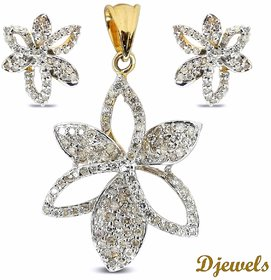 Djewels Stylish Designer Diamond Pendant Set