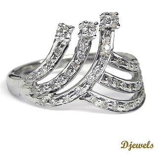 Djewels White Gold Diamond Ring