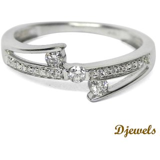 Djewels Teen Ring White Gold Diamond Ring