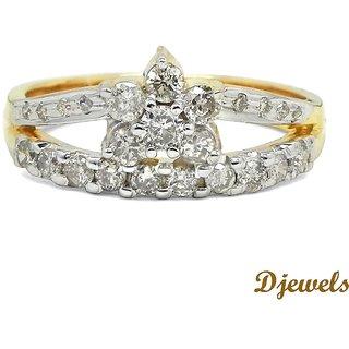 Djewels Diamond Gold Teen Ring