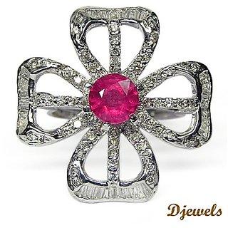 Djewels Ruby Diamond Cocktail Ring