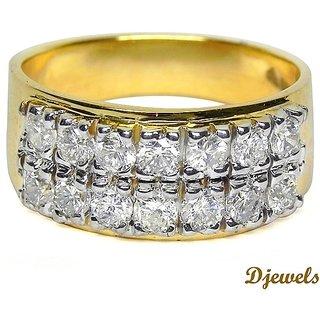 Djewels Dazzling Gold Diamond Ring