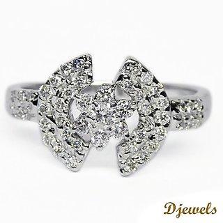 Djewels Designer White Gold Ring
