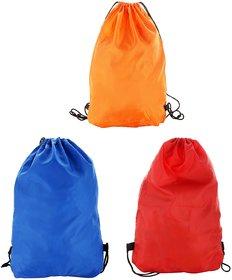 Roadeez  Multipurpose Drawstring Bag Combo Plain Of 3