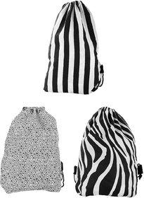 Roadeez Multipurpose Drawstring Bag Combo Printed of 3