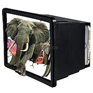 3D enlarge magnifire glass with adjust mobile stand Black