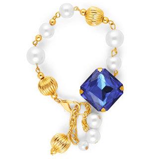 Zahra Jani Blue Pearl Tassel Bracelet