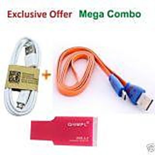 COMBO OF 6 USB CABLES AND CARD READER