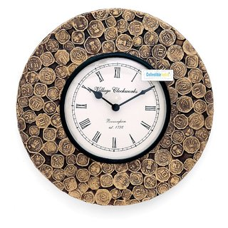 Buy Collectible India 12 Antique Coins Studded Wall Clockunique